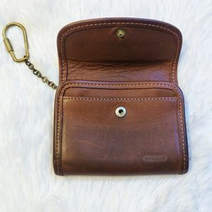 Vintage Coach Wallet Keychain Coin Purse